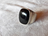 INEL argint cu ONIX exceptional IMPECABIL de efect ELEGANT superb OPULENT