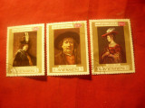 Serie  mica Yemen - Pictura -Rembrandt 1969 ,3 val. stampilate
