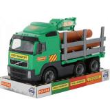 Camion cu lemne - Volvo PowerTruck, 45x19x25 cm, Wader