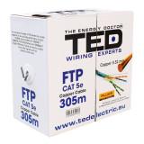 CABLU FTP CAT 5E CUPRU 0.52MM 305M TED ELECTR EuroGoods Quality