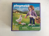 Jucarie Playmobil Milka 70372, Geobra, nedesfacut, fetita cu gaina, oua si cos