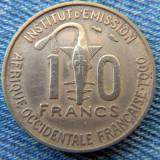 2r - 10 Francs 1957 Togo / an unic de batere, Africa
