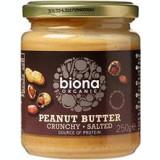 Unt de Arahide Crunchy cu Sare Bio 250 grame Biona Cod: 5032722305816