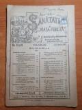 Sanatatea si viata fericita 1-15 martie 1921-20 ani de la fondarea revistei