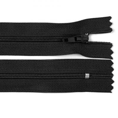 Fermoar spiralat nedetașabil cu atoblocare, lungime 10 cm, culoare negru foto