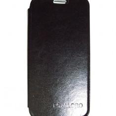 Husa tip carte cu stand neagra (cu decupaj casca) pentru Allview P5 Alldro