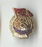 Insigna veche Industrie - CGM Congresul General al Muncii 1950 - Miniatura
