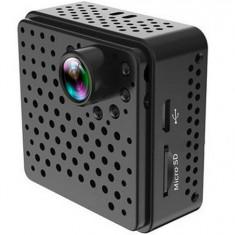 Mini Camera Spion iUni IP32, Wireless, Full HD 1080p, Unghi 160 grade, Audio-Video, Night Vision, P2P