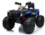ATV electric Maverick cu amortizoare si roti din cauciuc 4x4 Blue
