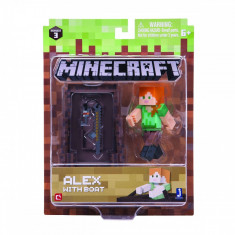Figurina Minecraft Alex with boat pack Seria 3