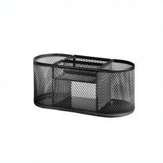 Suport pentru accesorii de birou metalic mesh Forofis 91332 negru