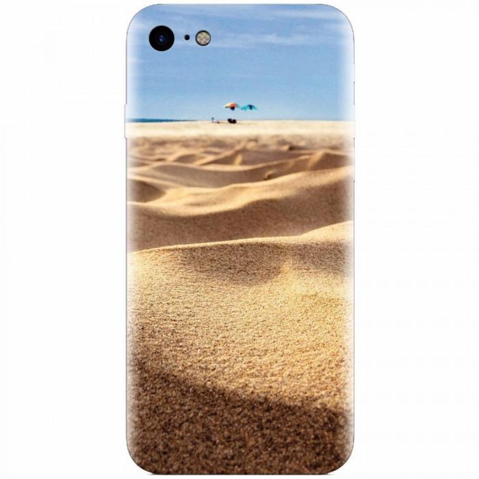 Husa silicon pentru Apple Iphone 6 Plus, Beach Sand Closeup Holiday