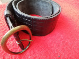 Curea din Piele de Vacă /Centură, 90cm, Negru