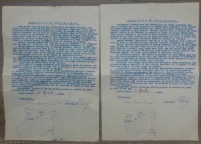 Lot doua contracte de inchiriere imobil din Bolgrad, 1943 foto