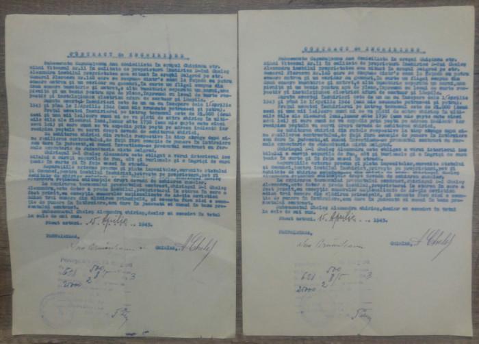 Lot doua contracte de inchiriere imobil din Bolgrad, 1943