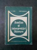 G. G. URSU, FLORIN MIHAILESCU - ANALIZE SI INTERPRETARI LITERARE