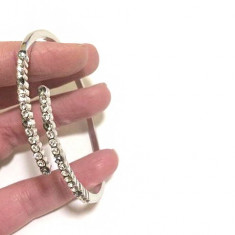 Bratara INOX dama-bijuterii- inox placat cu AUR alb 18K -Produs stantat