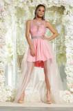 Cumpara ieftin K694-5 Rochie asimetrica in stil princess, M, FOGGI