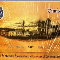 ROMANIA 2012 - ALBUM FILATELIC - TIMISOARA, 600 DE ANI- LP 1936 b