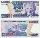 1994 , 500,000 turkish lira ( P-208c ) - Turcia - stare aUNC