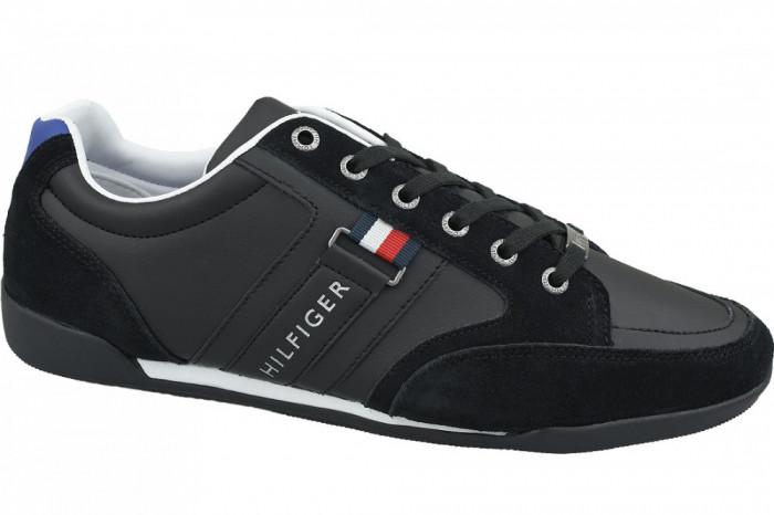 Pantofi sport Tommy Hilfiger Corporate Material Mix Cupsole FM0FM02398-990 pentru Barbati