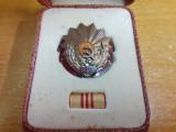 Romania - Ordinul Muncii RSR cls.III, cutie, bareta