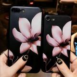 Husa de telefon cu imprimeu floral pentru iPhone 6/7/7 Plus/8/8 Plus/X