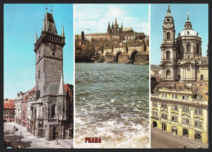 CEHOSLOVACIA - PRAGA - COLAJ - STAROMESTSKA RADNICE - CP CIRCULATA #colectosfera