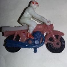 Jucarie Comunista,motocicleta plastic ,jucarie rara de colectie,T.GRATUIT