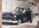 Fotografie veche MASINA DE EPOCA,autoturism vechi de colectie,NR.INMATRICULARE