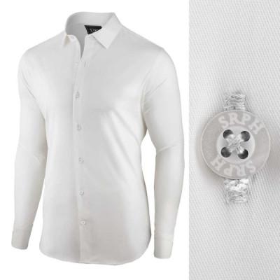 Camasa pentru barbati, alba, regular fit, bumbac, casual - Business Class Ultra foto