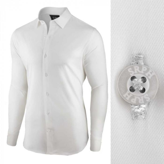 Camasa pentru barbati, alba, regular fit, bumbac, casual - Business Class Ultra