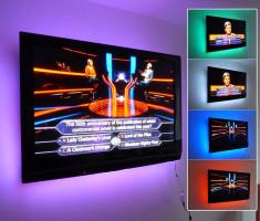 Kit Premium 2x Banda LED USB pentru Iluminare Ambientala in Spatele Televizorului Backlight TV RGB foto
