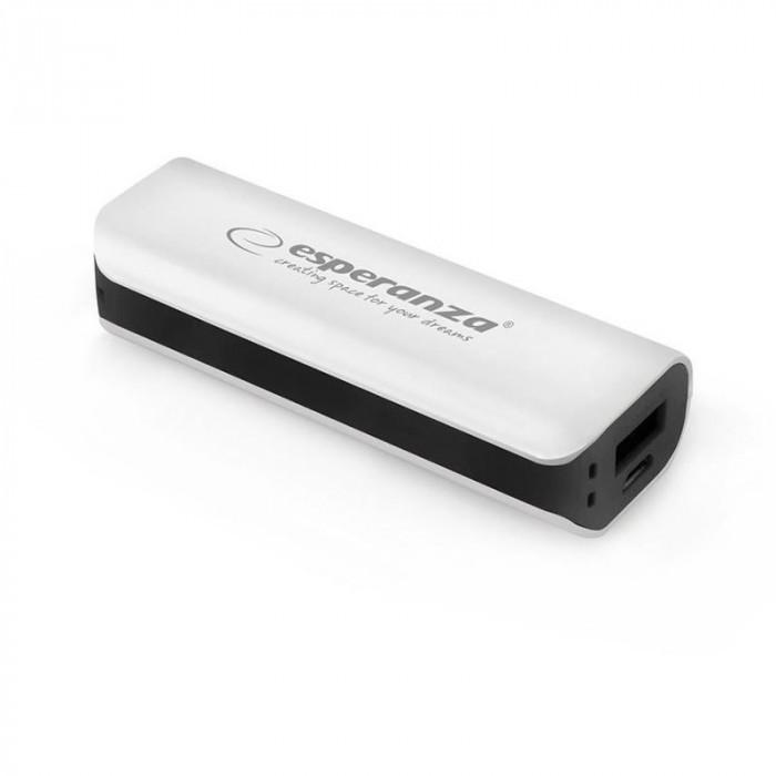 Baterie externa Powerbank Joule Esperanza, 2200 mAh, gri