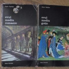 ARTA OCCIDENTULUI VOL.1-2 EVUL MEDIU ROMANTIC. EVUL MEDIU GOTIC - HENRI FOCILLON