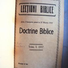 Carte  religie    Culegere  Lectiuni   biblice  1937 - 1938