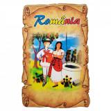 Magnet Souvenir Romania, lemn, Alexer