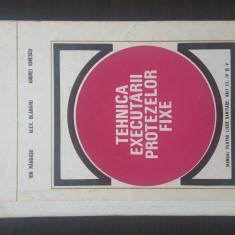 TEHNICA EXECUTARII PROTEZELOR FIXE - Ion Randasu, 1977