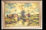 Ileana Radulescu (  1908 - 1981 ) - Moara parasita - Ulei pe panza 80 x 100 cm, Natura, Realism