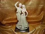 Statueta Sculptura Alabastru Art Nouveau, Flamenco, Semnata, vintage