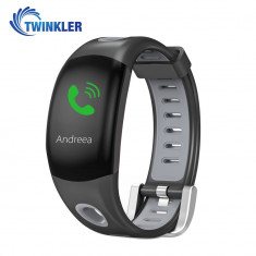Bratara fitness inteligenta TKY-DM11 cu functie de monitorizare ritm cardiac, Monitorizare somn, Pedometru, Notificari, Gri