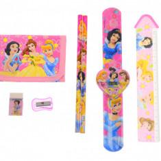 Set ceas, pentru copii, cu printese, portofel si rechizite cadou - COCOB8011646