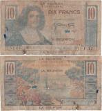 1947 , 10 francs ( P-42a ) - Reunion