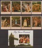 GUINEA ECUATORIALA 1977 ANIVERSARE ELISABETH II ( serie + colita ndt.) MNH, Nestampilat