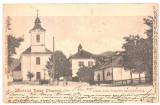 SV *  VISEU  *  BISERICA si PAROHIA CATOLICA  *  1900  *  RARA !, Circulata, Fotografie, Printata, Viseu de Sus