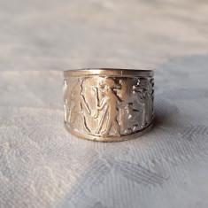 INEL argint SIMBOLURI EGIPTENE MULTIPLE splendid REGLABIL vechi EGIPT superb RAR