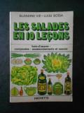 BLANDINE VIE, LUIGI BOSIA - LES SALADES EN 10 LECONS (limba franceza)
