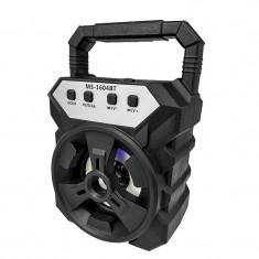Boxa portabila Siegbert MS 1604 BT, 25 W, 800 mAh, USB, suport card SD, radio FM, lumini
