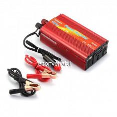 Invertor Auto 12V la 220V si USB 500W Constant Max.425W Clesti si Priza Auto