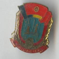 Insigna BRIGADIER UTC - Tineret - Pionieri 1970